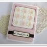 クラフトパンチのお花を並べて、簡単メッセージカード