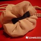 シフォンパフ with ribbon 手作り