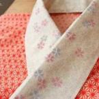 葉書で桜のステンシル半襟作り