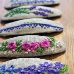 刺繡のパッチンピン