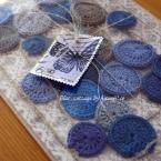 水玉の編み編みガーランド