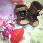 メルちゃんサイズ★フェルトで作る小さなブーツ★