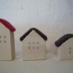 羊毛と木のお家