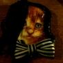猫のブローチ(乱れ髪の猫)