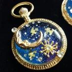 銀河の懐中時計レジンネックレス
