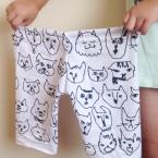 三辺縫うだけ♪手ぬぐいで作るラクちんパンツの型紙☆