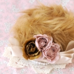 *森ガール*なファーとお花のヘッドアクセサリー