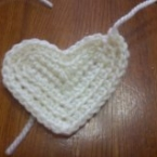 細編みで作るハートモチーフ