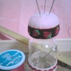 ピンクッション付きミニボトル