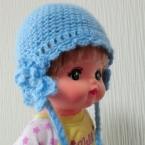 メルちゃん・毛糸の編みあみ帽子