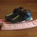 スケート靴のブレードカバー