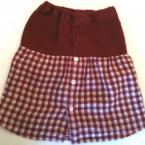 リメイク 女の子台形スカート