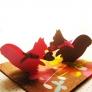 クッキー型  de ティータイムなリスさんのカード