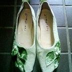 葉っぱの靴。