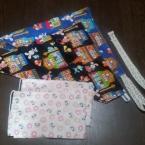 カットクロスで作る簡単子供用バブーシュカ風三角巾