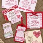 切って押すだけ、カンタンバレンタインカード