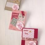 フェミニン&キュートなバレンタインカード