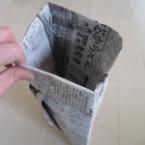 新聞でごみ袋