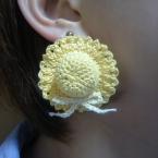 麦わら帽子のイヤリング