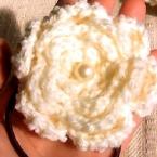 大きめ真っ白お花ゴム