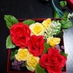 空き箱と100均花で作るフラワーボックス