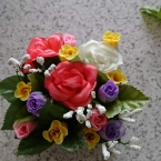 空き箱と100均花で作るフラワーボックス第2段