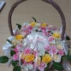 お花いっぱいカゴリングピロー