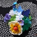 *フェルトの野の花ブローチ*