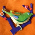 *小鳥のフェルトブローチ*