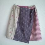 ゴムウエストのシンプル巻きスカート