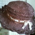 かぎ針編みの夏用帽子