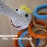 かぎ針編みでピノッキオの輪投げ♪