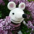 子ども用パペット!編みぐるみの子ネズミ♪
