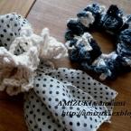鎖編みを数えるだけ!簡単ネット編み風シュシュ♪