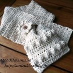早く編めてシンプル可愛く♪かぎ針編みのマフラー