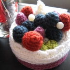 【かぎ編み】ブルーベリームースケーキのギフトBOX