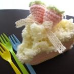 【かぎ編み】もこもこショートケーキ
