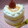 初投稿☆ ハートのいちごケーキ