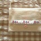 節電ママへ、手縫いで簡単、安心ポシェット