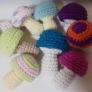かぎ編みで作るキノコ