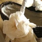 綿レースのローズコサージバッグ