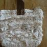 リネンの裂き布バッグ