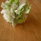 リネンの花の指輪