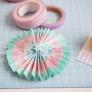 紙とマスキングテープで簡単ロゼットの手作り