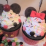 粘土などで作る、ミッキーのカップケーキ作り方動画