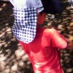 子供用 帽子につける日よけ
