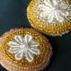 ビーズ刺繍のヘアアクセ2