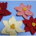 かぎ針編みのポインセチア
