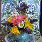 ブルーの陶器のアレンジメント~❁