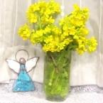 菜の花と土筆のブーケ